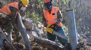 L'Esercito al lavoro agli argini del torrente Cervo