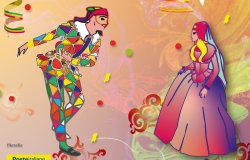 Una cartolina dedicata al Carnevale