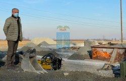 Saluggia: proseguono i lavori alla rotonda Diasorin