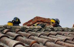 Borgo d'Ale: incendio ad un camino