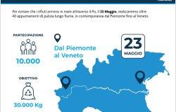 Il 23 maggio in Piemonte dieci interventi per pulire i fiumi