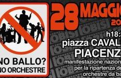 """""""No ballo? No orchestre"""": venerdì 28 scatta la protesta"""