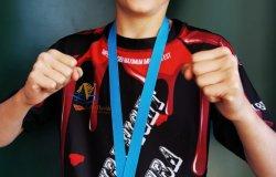 Antonio campione italiano di kickboxing
