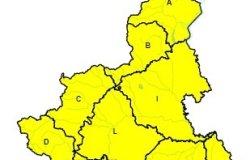 Vercellese: emessa l'allerta gialla per forti temporali
