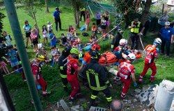 Trino: centro estivo tra terremoto e interventi, simulati