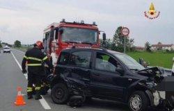 Incidente statale 455 Vercelli-Desana: due auto coinvolte