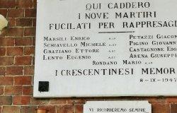 L'anniversario dell'Eccidio dei IX Martiri