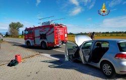 Quinto vercellese: scontro tra due auto sulla Sp230