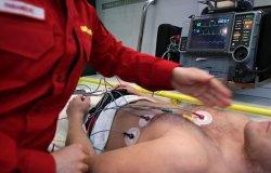 L'elettrocardiogramma verrà teletrasmesso dall'ambulanza all'ospedale