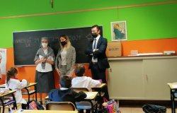 L'assessore regionale Chiorino in visita alle scuole vercellesi