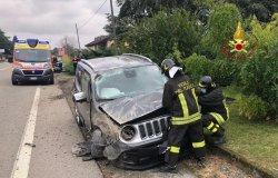Santhià: scontro tra due auto in via 25 aprile