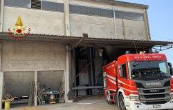 Livorno Ferraris: in fiamme un essiccatoio alla Cascina Cioccari
