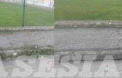 """Via Rocciamelone: """"Ho provveduto io a ripulire il marciapiede"""""""