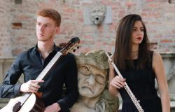 Irene Sacchetti al flauto e Fabio Bussola alla chitarra in concerto