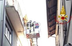 Intervento dei Vigili del fuoco in via Failla