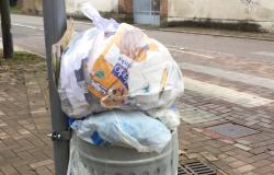 Cestini pubblici riempiti con rifiuti domestici beccati i responsabili