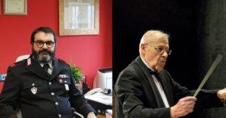 Maresciallo Maggiore Antonio Marini e il Maestro Giancarlo Aleppo